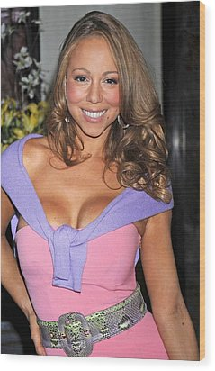 Mariah Carey At A Public Appearance Wood Print by Everett