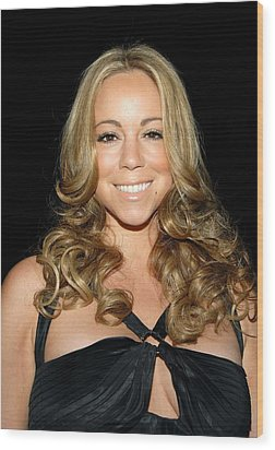 Mariah Carey At Arrivals For 2008 Wood Print by Everett