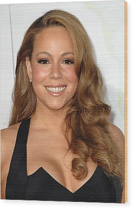Mariah Carey At Arrivals For Afi Fest Wood Print by Everett