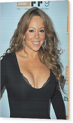 Mariah Carey At Arrivals For New York Wood Print by Everett