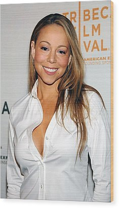 Mariah Carey At Arrivals For Tennessee Wood Print by Everett