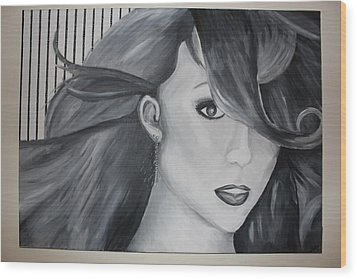Mariah Carey Wood Print by Nicole Caruso