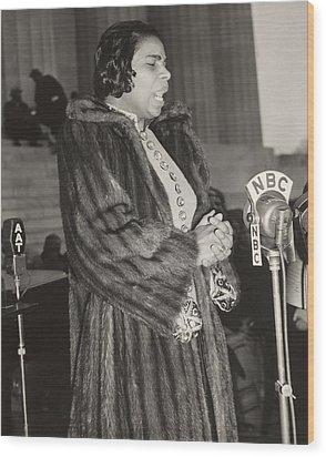 Marian Anderson 1897-1993, At A Nbc Wood Print by Everett