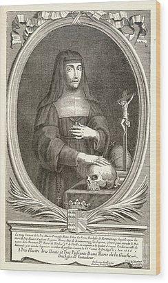 Marie-felicite Montmorency Wood Print by Granger