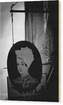 Marie Laveau's Bar Wood Print by Shelly Stallings
