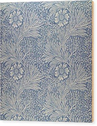 Marigold Wallpaper Design Wood Print by William Morris