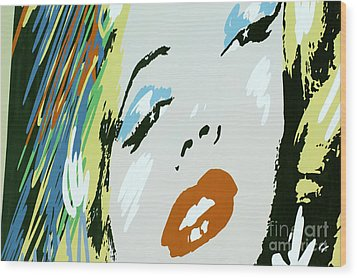 Marilyn In Hollywood Wood Print by Micah May