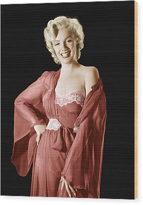 Marilyn Monroe, 1950s Wood Print by Everett