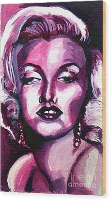 Marilyn Monroe Wood Print by Hannah Chusid
