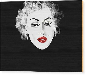 Wood Print featuring the digital art Marilyn Monroe by Rc Rcd
