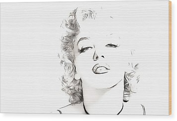 Marilyn Monroe Wood Print by Tilly Williams