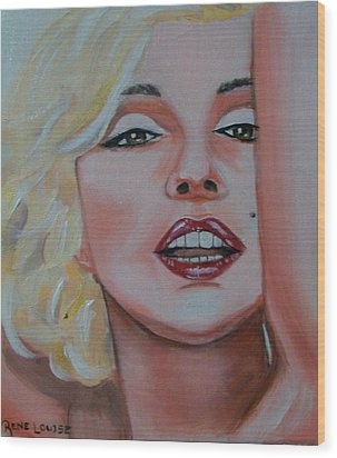 Marilyn Wood Print by Reneza Waddell