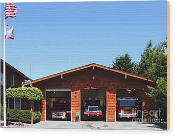 Marin County Fire Department . Point Reyes California . 7d15919 Wood Print by Wingsdomain Art and Photography
