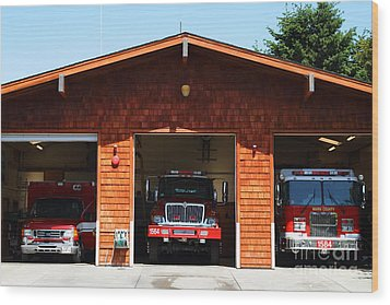 Marin County Fire Department . Point Reyes California . 7d15920 Wood Print by Wingsdomain Art and Photography