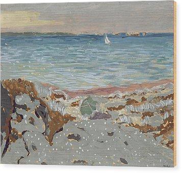 Marine Wood Print by Edouard Vuillard