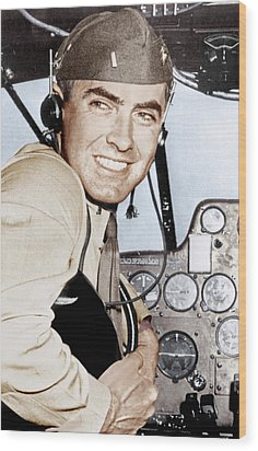 Marine Lieutenant Tyrone Power Wood Print by Everett