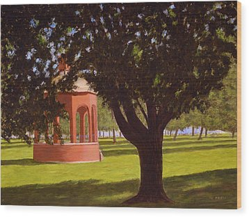 Marine Park South Boston Wood Print