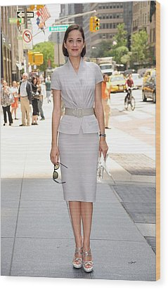 Marion Cotillard Wearing A Dior Suit Wood Print by Everett