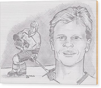 Mark Howe Wood Print by Chris  DelVecchio