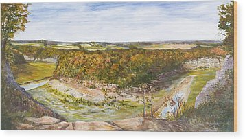 Wood Print featuring the painting Marker 21 by George Richardson