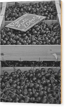 Market Cherries Wood Print by Georgia Fowler