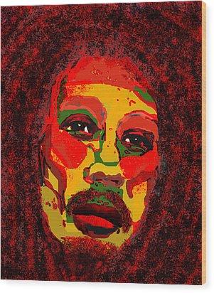 Marley Wood Print by Peri Craig