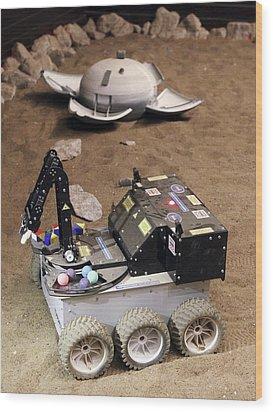 Mars Rover Testing Wood Print by Ria Novosti