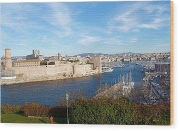 Marseille Vieux Port Wood Print by Amelia Racca
