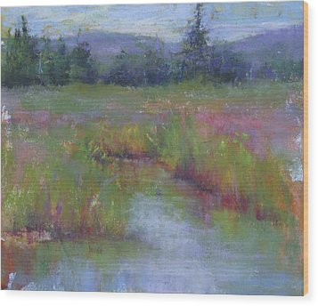 Marsh Colors Wood Print