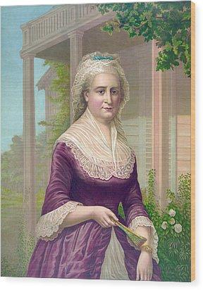 Martha Washington, Colored Lithograph Wood Print by Everett