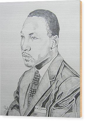 Martin Luther King Jr. Wood Print by John Keaton