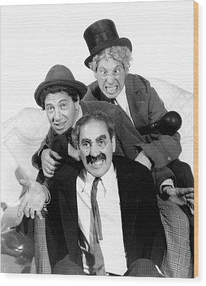 Marx Brothers - Groucho Marx, Chico Wood Print by Everett