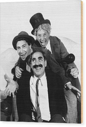 Marx Brothers, The Chico, Groucho Wood Print by Everett