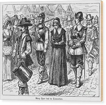 Mary Dyer, D.1660 Wood Print by Granger