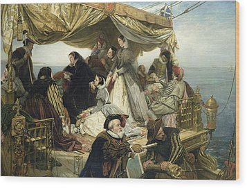 Mary Stuart's Farewell To France Wood Print by Henry Nelson O Neil