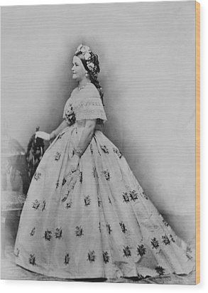 Mary Todd Lincoln 1818-1882, As First Wood Print by Everett