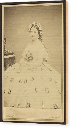 Mary Todd Lincoln 1818-1882 Wood Print by Everett