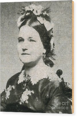 Mary Todd Lincoln, First Lady Wood Print by Photo Researchers