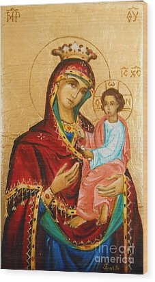 Mary With Jessus R.3 Wood Print