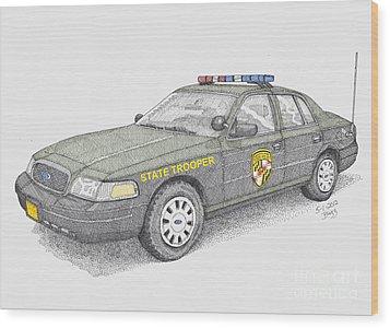 Maryland State Police Car 2012 Wood Print by Calvert Koerber