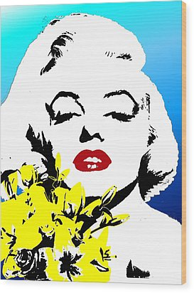 Wood Print featuring the painting Marylin Monroe by Jann Paxton