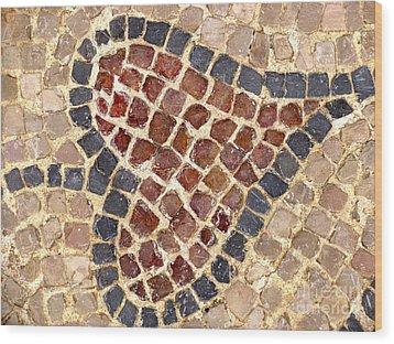 Masada Leaf Wood Print