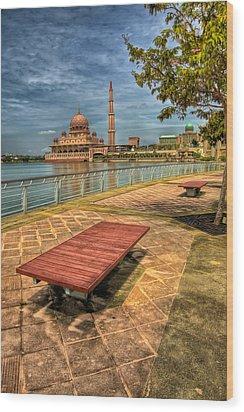 Masjid Putra Wood Print by Adrian Evans