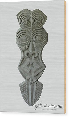 Mask 1 2006 Wood Print by Eduardo Leiva