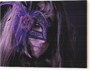 Mask Wood Print by Joana Kruse