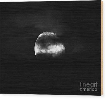 Masked Moon Wood Print by Al Powell Photography USA