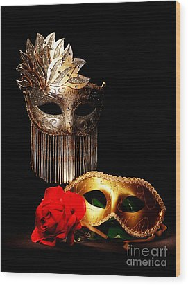 Masquerade Wood Print by Gary Scott