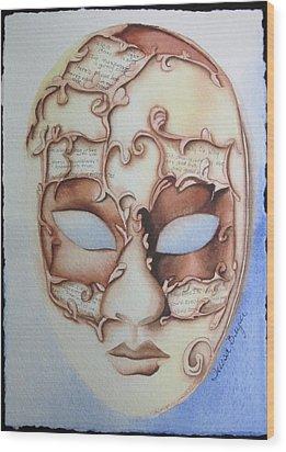 Masquerade Wood Print by Teresa Beyer