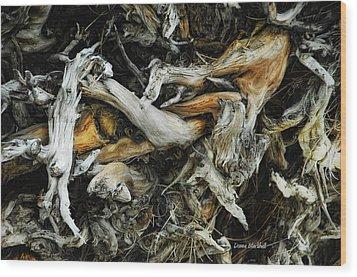 Mass Grave Wood Print by Donna Blackhall