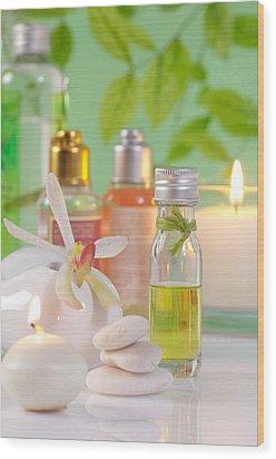Massage Spa Concepts Wood Print by Atiketta Sangasaeng